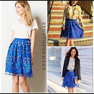 Anthropologie Eva Franco Albastru circle skirt